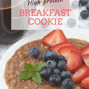 The original high protein no-bake breakfast cookie. Make this the night before to enjoy a healthy breakfast in the morning that tastes like dessert! fitnessista.com