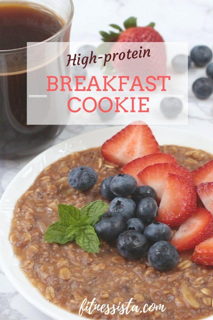 high protein no bake breakfast cookie