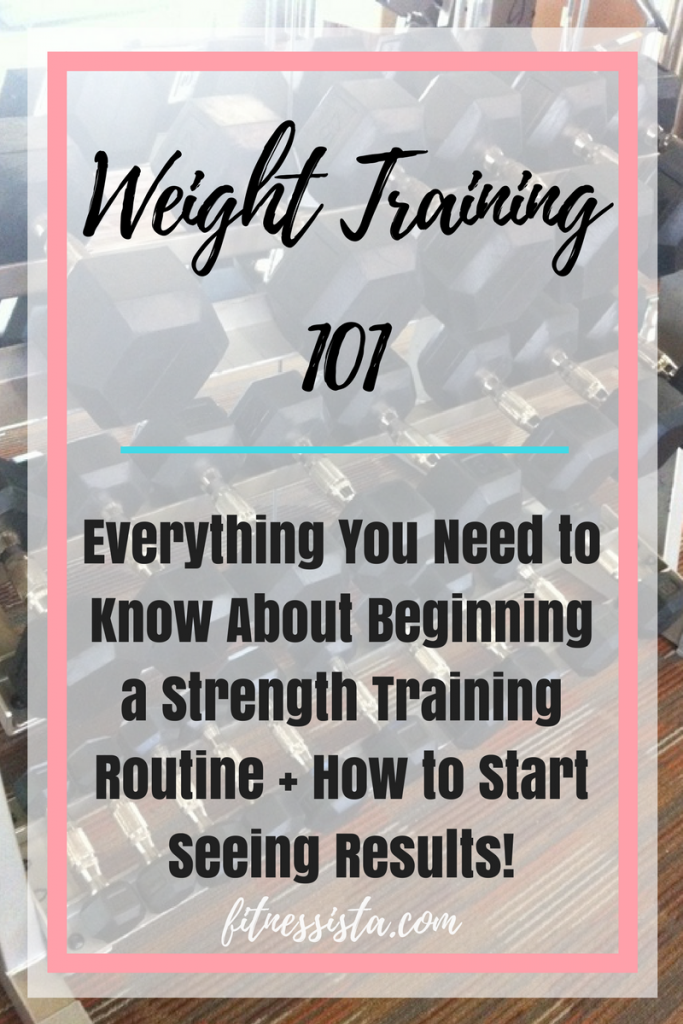 How to Set Up a Weight Training Plan and Start Seeing Results! fitnessista.com