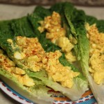 Healthy egg salad with yogurt