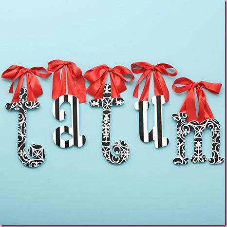 Flourish Hanging Letters