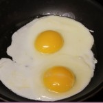 two sunny side up eggs