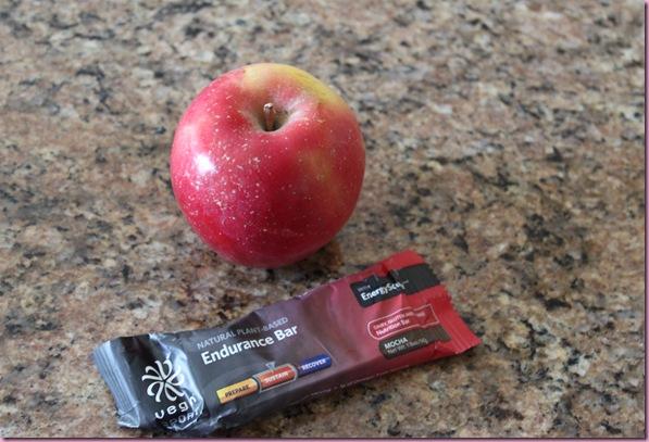 Vega bar and apple