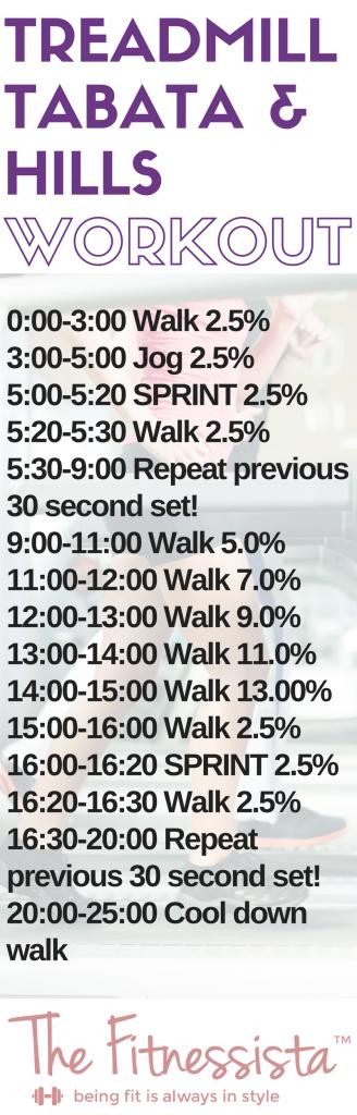 Tabata Treadmill Workout