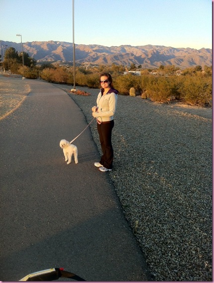 walking with Bella
