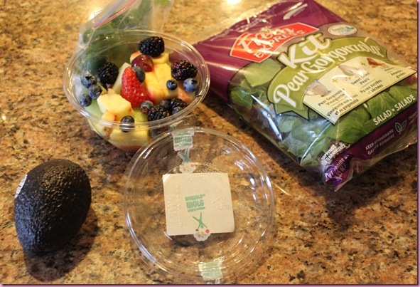salad and fruit