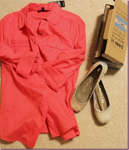 shirt and toms