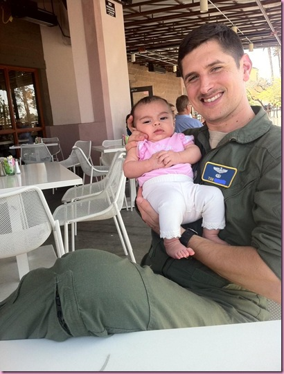 pilot and baby