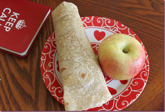 wrap and apple