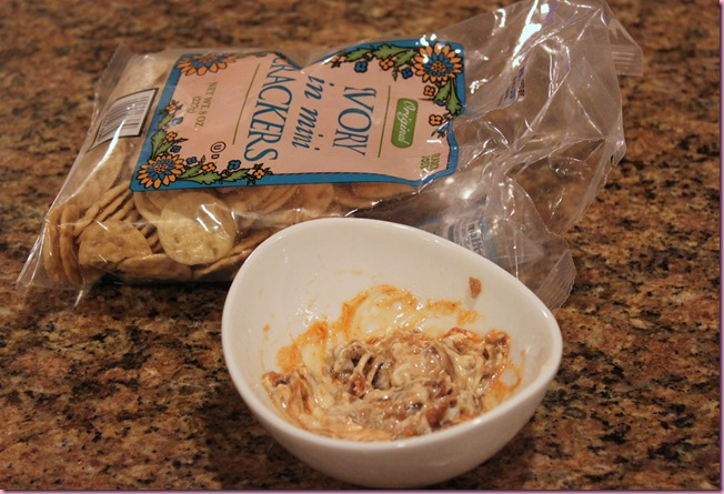 crackers and anchovies