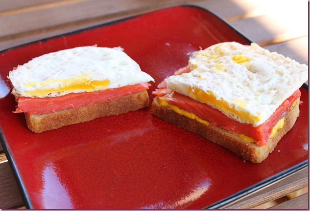 egg and salmon