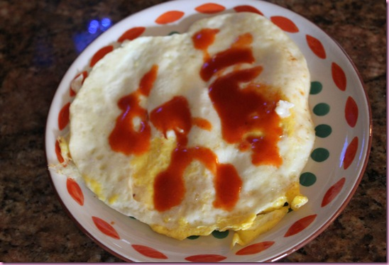 egg w hot sauce