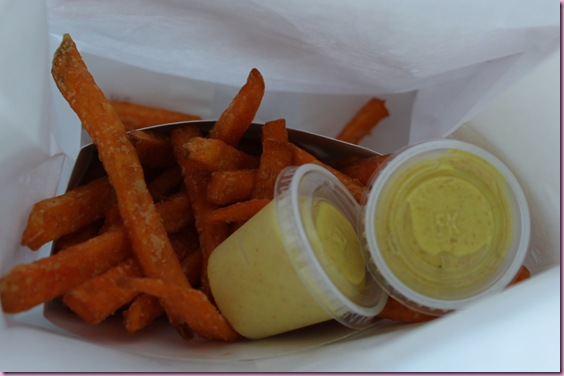 sweet potato fries and curry aioli