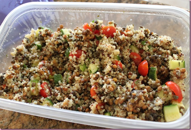 greek lentils and quinoa