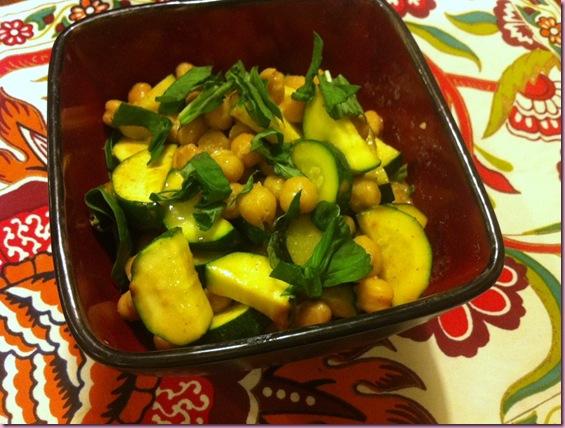 zucchini and chickpeas