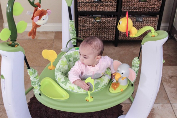 Liv in the exersaucer
