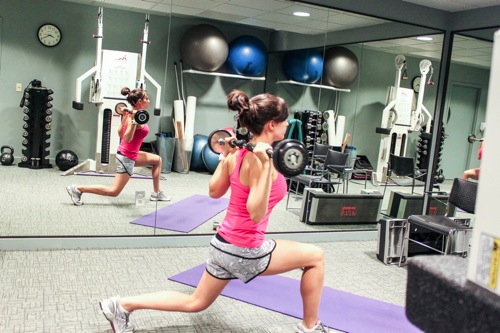Lunge w barbell
