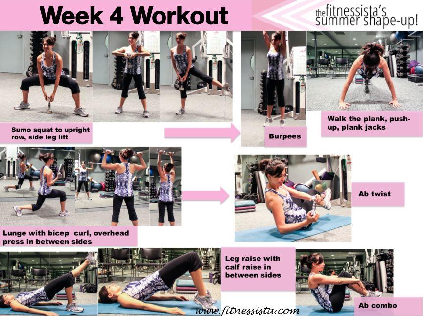 Summer Shape Up 2012: Week 4 Workout + July Calendar - The