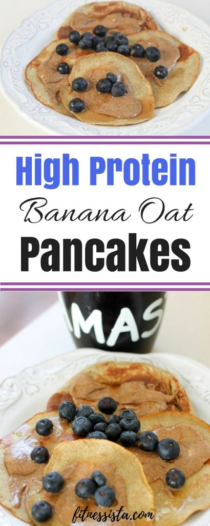High Protein Banana Oat Pancakes