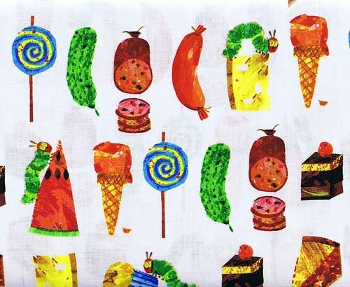 Af 5282 m food fun the very hungry caterpillar encore by andover fabrics