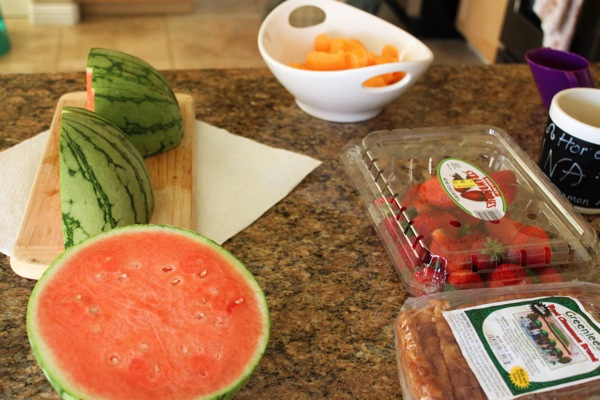 Fruit food prep to eat clean on-the-go
