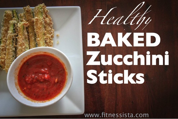 Healthy zucchini sticks
