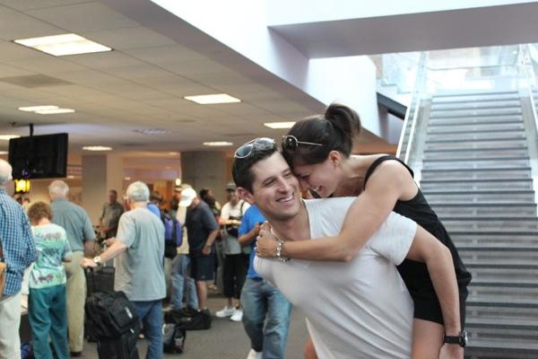 Us at airport