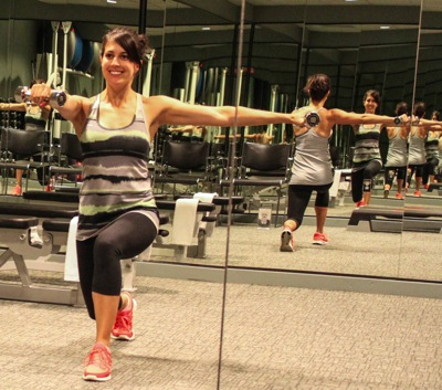 Lat raise and lunge