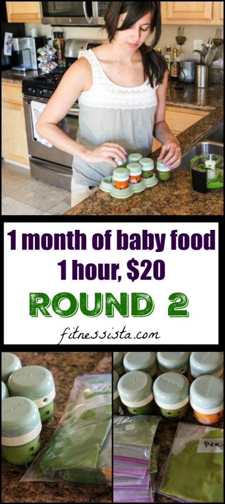 One month of healthy homemade baby food with recipes and steps! fitnessista.com #homemadebabyfood #babyfood