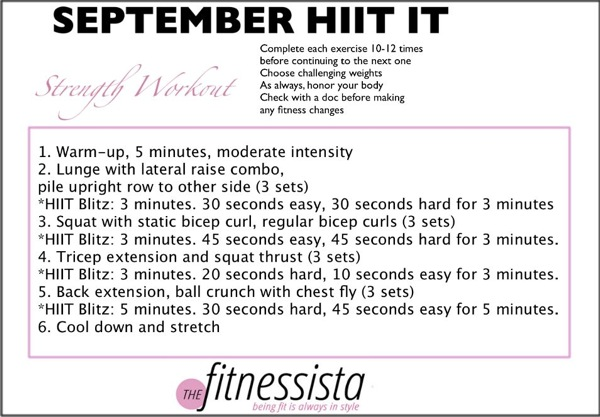 September workout