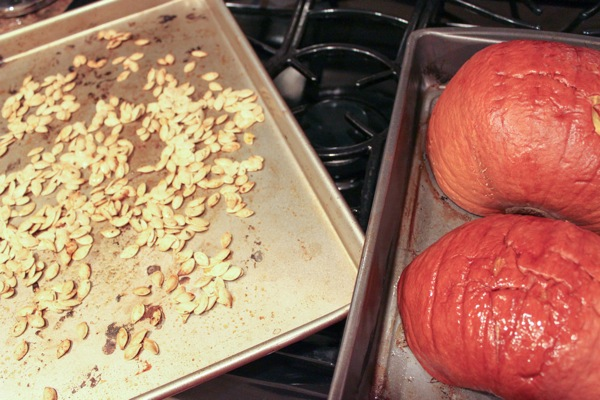 roasted pumpkin and seeds