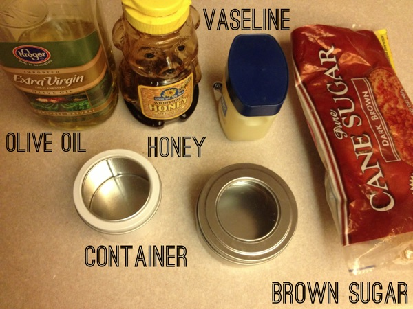 homemade lip scrub ingredients