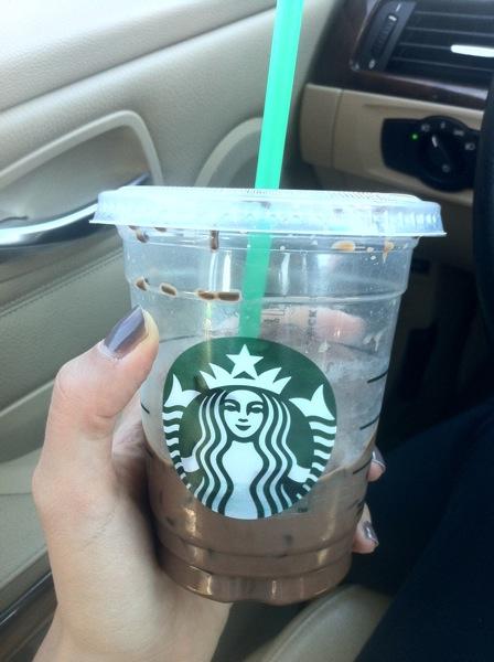 Starbucks iced peppermint mocha