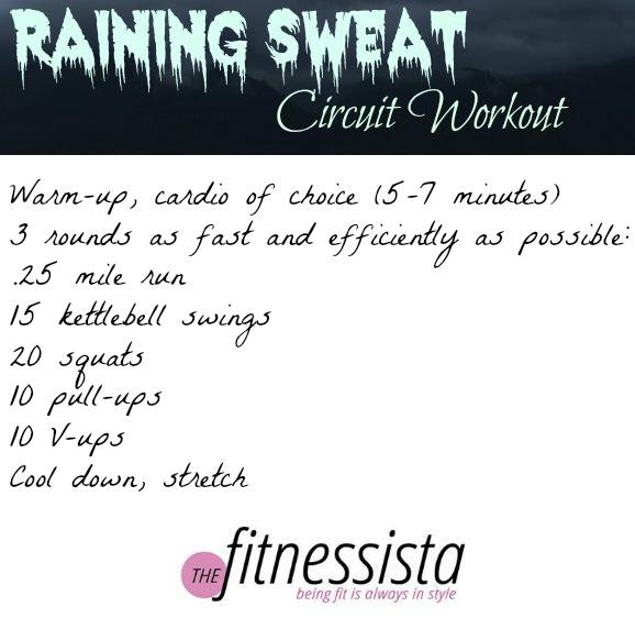 Raining sweat