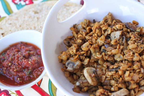 Tempeh taco meat