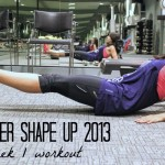 Winter Shape Up 2013: Week 1 Workout