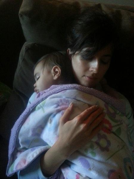 Snuggling Livi