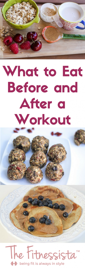 Figuring out what to eat before and after a workout can take some trial and error to see what works for your body. Here are some tips from a personal trainer on how to fuel your body properly. fitnessista.com | #preworkoutfuel #postworkoutfuel #healthyeating