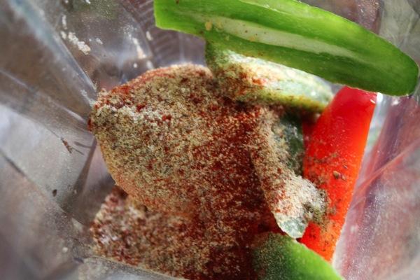 raw cracker ingredients in the blender