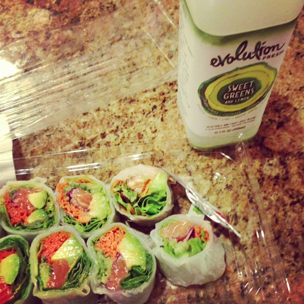 Sushi and juice