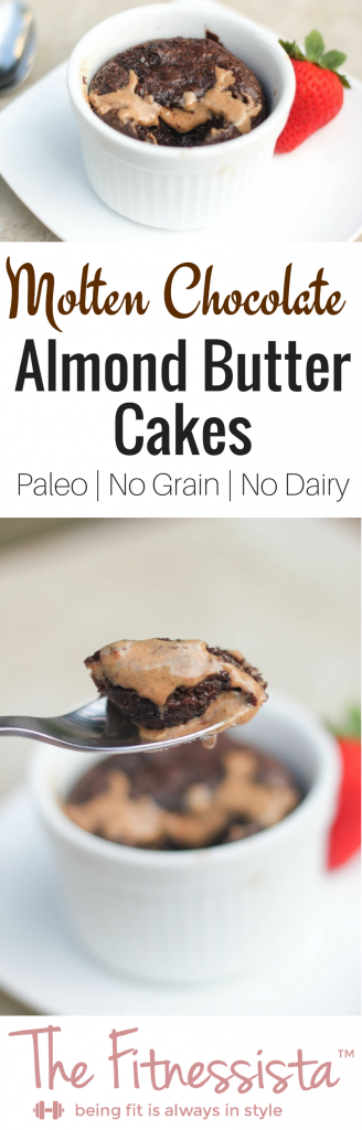A decadent and healthy twist on the classic lava cake. This paleo molten chocolate cake no refined sugars or flours! fitnessista.com