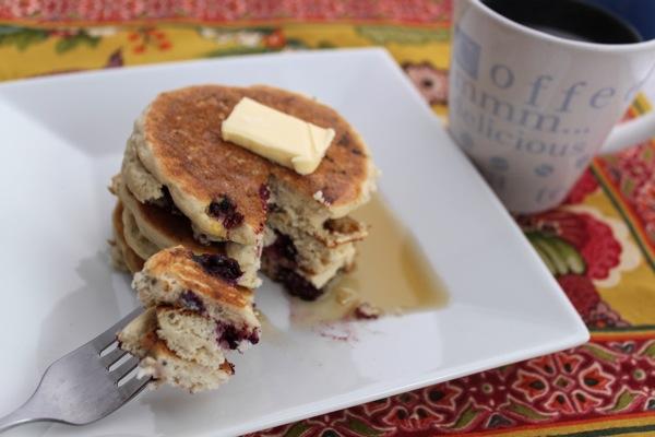 Berry chia pancakes