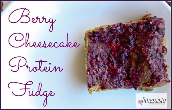 Berry cheesecake protein fudge  1 of 1