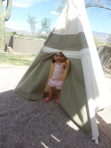 Livi and the teepee