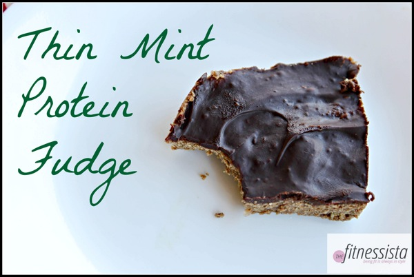 Thin mint protein fudge