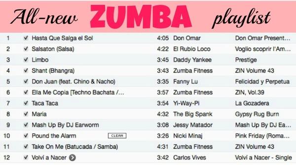 Zumba playlist