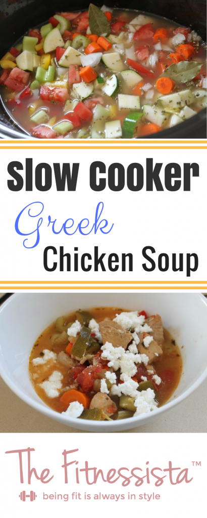 Oregano and lemon flavor this slow cooker Greek chicken soup for a cozy, healthy, delicious meal that's ready and waiting at the end of a long day. fitnessista.com