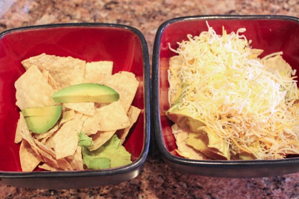 tortilla chips in bowls