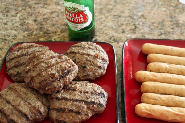 Burger and hot dog  1 of 1