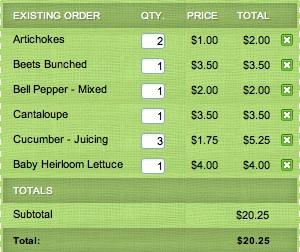 Farm box order